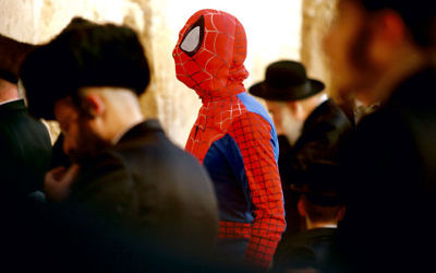 David Kassman's Spiderman at the Wailing Wall.