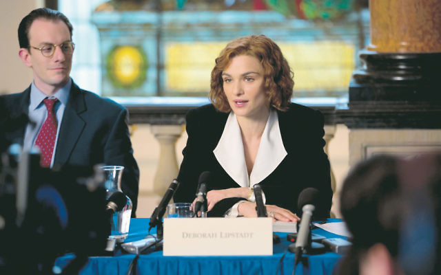 Rachel Weisz stars as academic Deborah Lipstadt in the courtroom drama Denial.