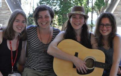 Bek Jacobs, Deb Neumann, Yardena Prawer and Talia Hoffman at Limmud Fest in 2014.