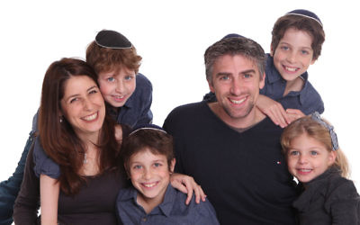 Incoming Shalom CEO Tamara Samuel with her husband Jonathan and their four children.
