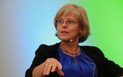 Ingrid Carlberg speaks about Wallenberg at a SJWF event at Waverley Library last week. Photo: Shane Desiatnik