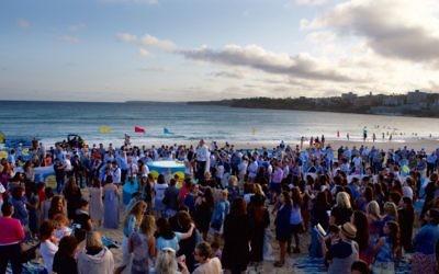 A previous Shabbat Project event at Bondi Beach. Photo: Giselle Haber
