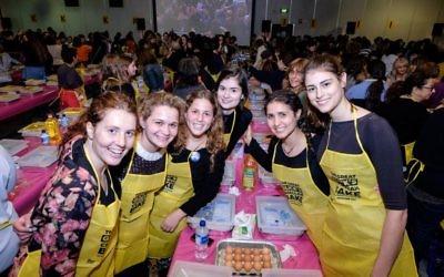 Shabbat Project 2015 Glicks challah bake.