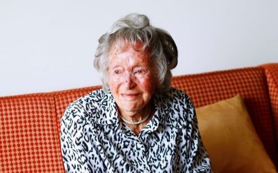 107-year-old Melbourne Jew Esther Friedman. Photo: Peter Haskin