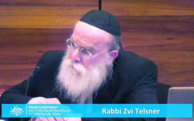 Rabbi Zvi Hirsch Telsner at the Royal Commission.