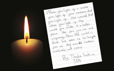 The inspirational letter Thalia Hakin wrote in 2015.