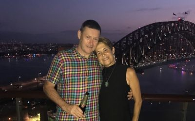 Galy O'Connor with her husband Brian in Sydney on New Year's Eve.