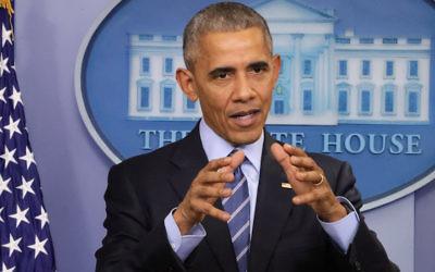 Outgoing US President Barack Obama.