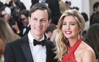 Jared Kushner and  Ivanka Trump for the 2016 Costume Institute Benefit at The Metropolitan Museum of Art in New York. Photo: EPA/Justin Lane.