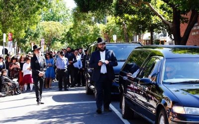 The funeral procession on Wednesday. Photo: Peter Haskin
