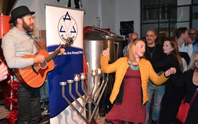 KeepOlim Chanukah Party in Jerusalem, 2016.