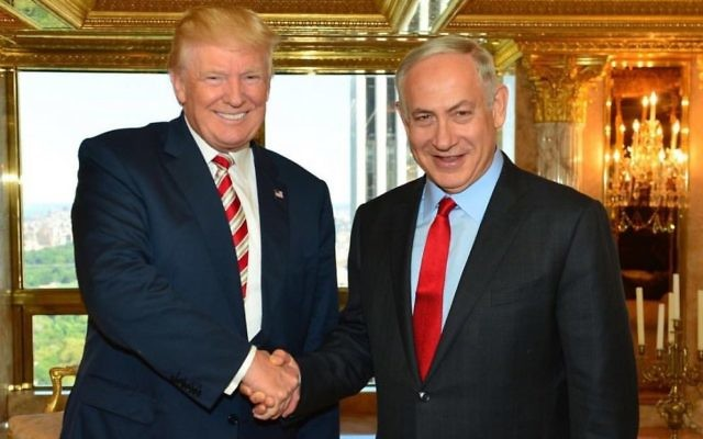Donald Trump with Benjamin Netanyahu in New York.  Photo Kobi Gideon/GPO