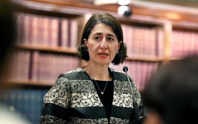 NSW Premier Gladys Berejiklian at Parliament House on Tuesday. Photo: Noel Kessel