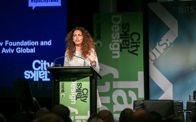 Hila Oren addresses the audience at CityTalks in Sydney last week. Photo courtesy: City of Sydney