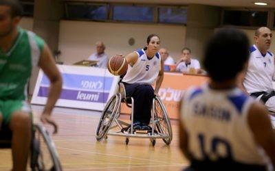 Moran Samuel captains the men's wheelchair basketball team at Beit Halochem.