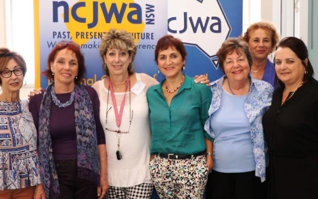 From left: Victoria Nadel, Professor Tsvia Walden, Miri Orden, Rebecca Dreyfus, Barbara Ford, Sharon Davis and Sandy Hollis.