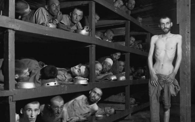 Buchenwald survivors following the camp's liberation.