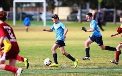 Maccabi Victoria young athletes will pause to commemorate Yom Hashoah. Photo: Peter Haskin