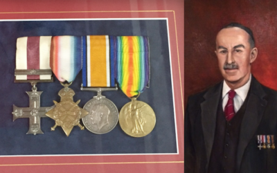 Abraham Rothfield and his WWI Military Cross and Bar.