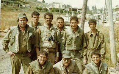 Lieutenant Daniel Goldberg's unit in Lebanon, 1982.