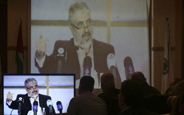 Hamas leader Khaled Mashal.