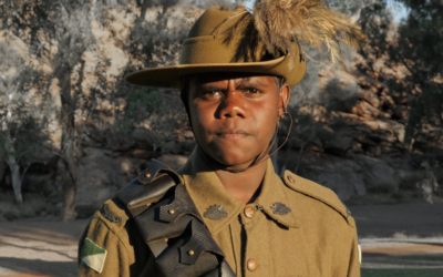An Indigenous young man from Ntaria, Northern Territory who is part of the From the Bush to Beersheba Project.
