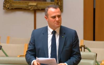 Tim Wilson during Monday's debate.