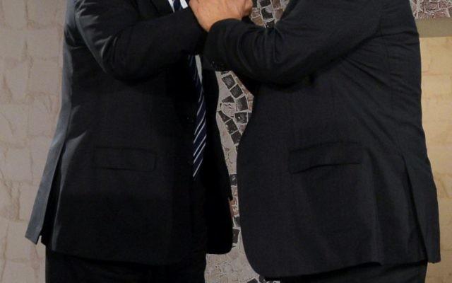 Donald Trump and Benjamin Netanyahu at the Israel Museum. Photo: Haim Zach, GPO
