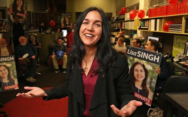 Senator Lisa Singh at her office in Hobart.