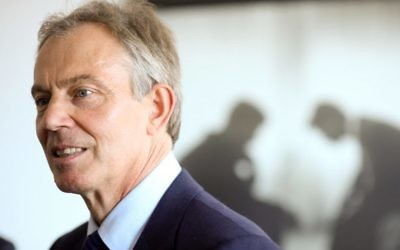 Tony Blair spoke at the conference.
