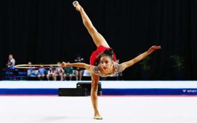 Alexandra Kiroi in action at the Australian Gymnastics Championships last week. Photo: Peter Haskin