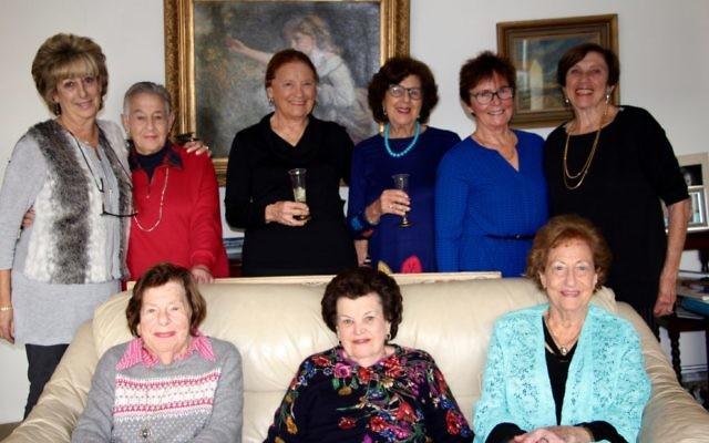 From left: Miri Orden, Marian Appel, Dorothy Jones, Bernice Bachmayer, Margaret McNiven, Natalie Gafen; (front row) Rhoda Abulafia, Elza Levin and Ethel Davis.