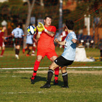 4-6-17. North Caulfield Maccabi Football Club. NCMFC def Peninsula Strikers 4-1 at Caulfield Park. Photo: Peter Haskin
