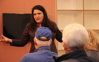 Labour Party MK Michal Biran speaking at Double Bay Library on June 18. Photo: Shane Desiatnik
