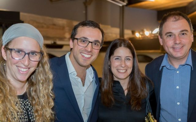 From left: Lior and Michael Misrachi with Shalom CEO Tamara Samuel and Shalom president Jonathan Leib.