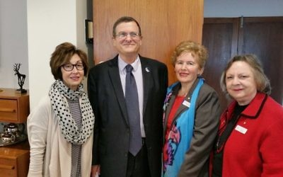 From left: Victoria Nadel, Shmuel Ben-Shmuel, Rysia Rozen, Sylvia Deutsch.