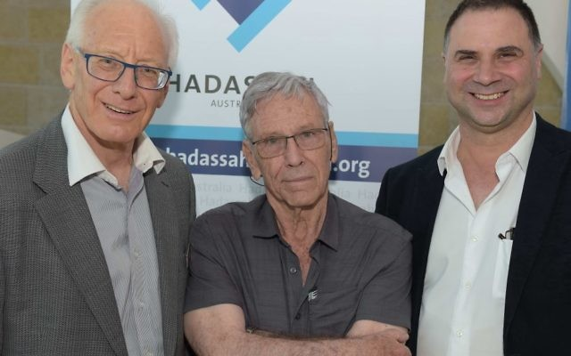 From left: Ron Finkel, Amos Oz and David Forbes.
