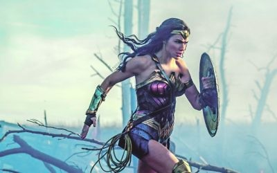 Gal Gadot as Diana in the action adventure movie Wonder Woman.