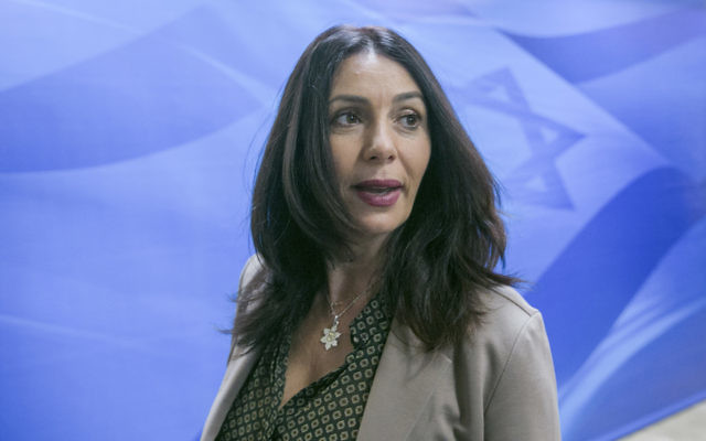 Israel's Minister of Culture, Likud politician Miri Regev, was strongly in favour of the resolution. Photo: Ohad Zwigenberg/POOL