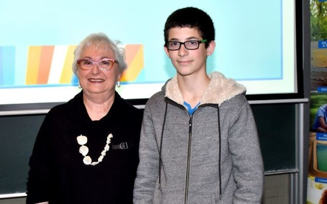 B'nai B'rith NSW president Anna Marks with Gidon Goodman. Photo: Noel Kessel