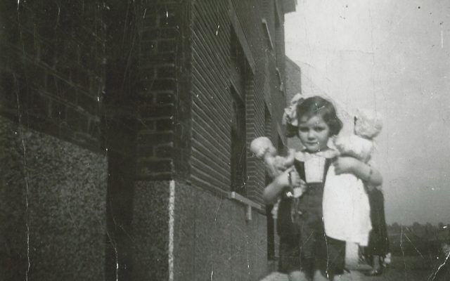 The only wartime photo of Francine, taken in Brussels in 1942.