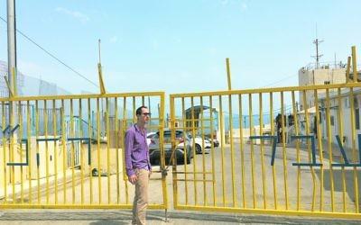 Nathan Jeffay at the border between Israel and Lebanon.