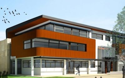 An artist's impression of the new building.