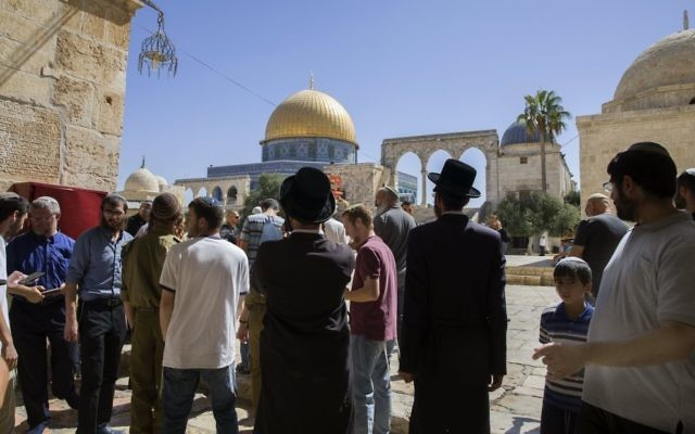 The Temple Mount, the site of the stabbing of Israeli police officer Hadas Malka.  Photo: EPA/Jim Hollander.