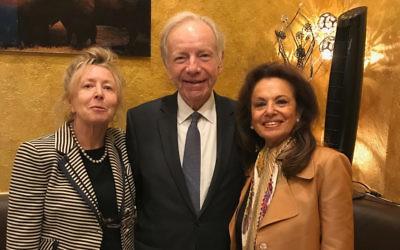Hadassah Lieberman, Joseph Lieberman and Eva Fischl.