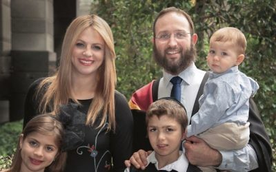 Rabbi Daniel Rabin with his family.