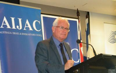 Dr Eran Lerman speaking in Melbourne last month.