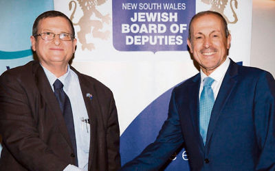 Shmuel Ben-Shmuel with JBOD chief executive Vic Alhadeff. Photo: Mark Zworestine