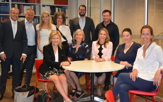 Back (from left): Vic Alhadeff, Phillip Wolanski, Caroline Marcus, Suzy Wolanski, Zac McLean, Bryan Seymour. Front (from left): Lisa Davies, Jenny Campbell, Anna Caldwell, Sally Roberts, Tory Maguire.