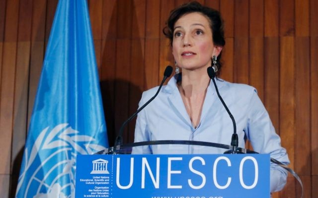 UNESCO'S newly elected director-general, Audrey Azoulay, is Jewish. Photo: AP Photo/Michel Euler